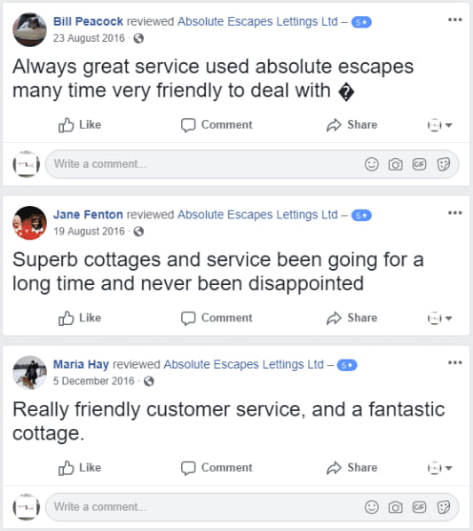 absolute escapes lettings reviews