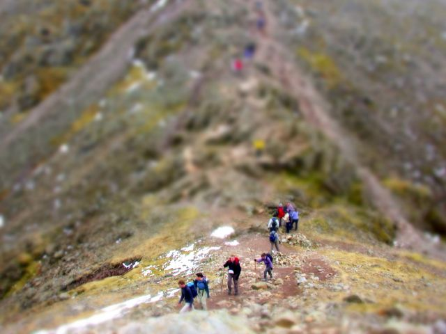 going up scafell pike.1